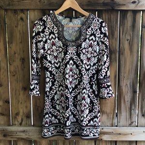 WHITE HOUSE BLACK MARKET pattern dress